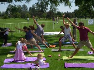 family yoga exercise