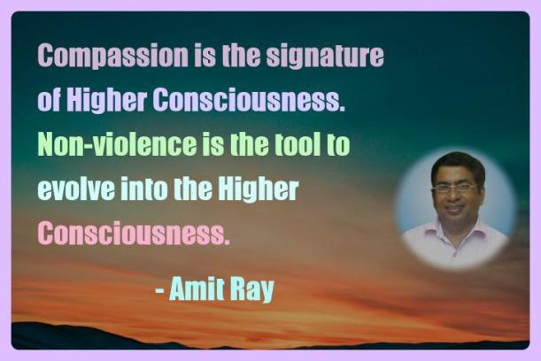 Amit Ray Motivation Quote Compassion is the signature of