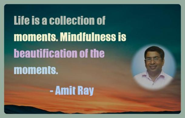 Amit Ray Motivation Quote Life is a collection of moments