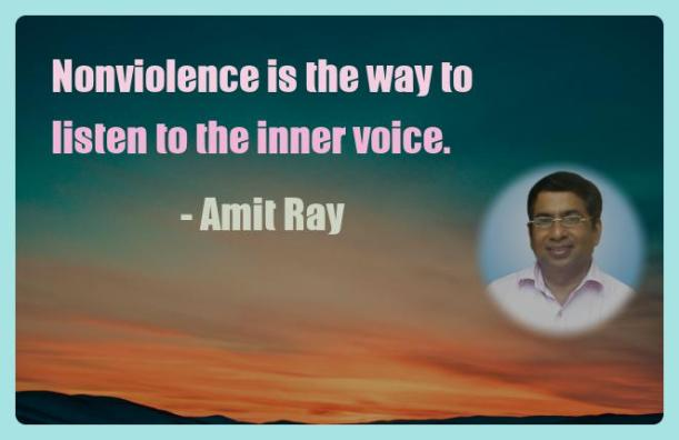 Amit Ray Motivation Quote Nonviolence is the way to listen to