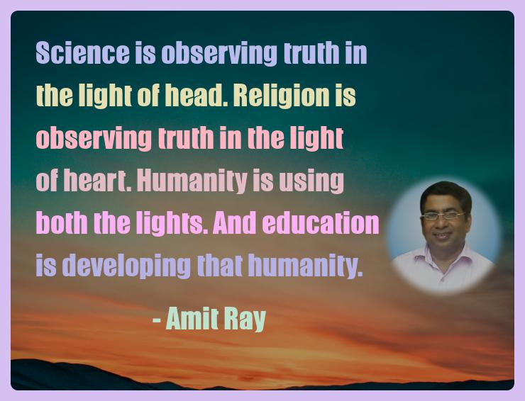 Amit Ray Motivation Quote Science is observing truth in the