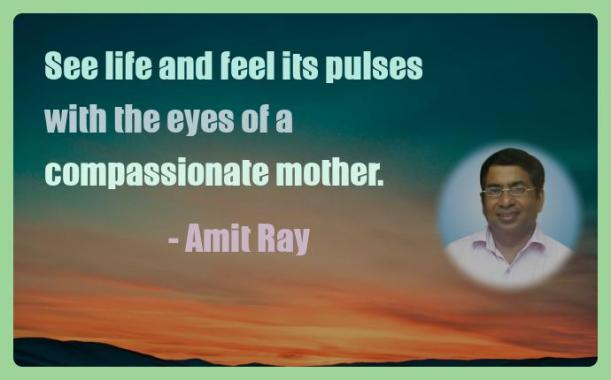 Amit Ray Motivation Quote See life and feel its pulses with