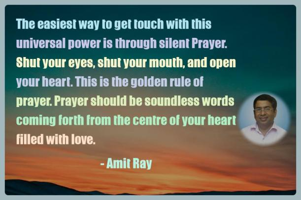 Amit Ray Motivation Quote The easiest way to get touch with