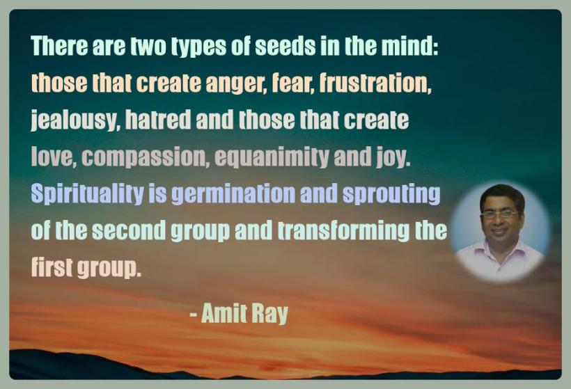 Amit Ray Motivation Quote There are two types of seeds in the