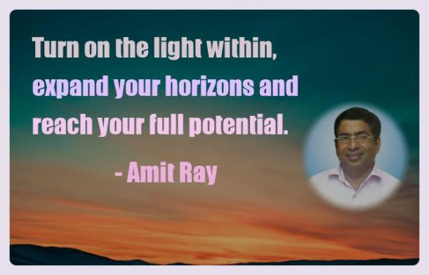 Amit Ray Motivation Quote Turn on the light within expand