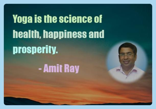 Amit Ray Motivation Quote Yoga is the science of health