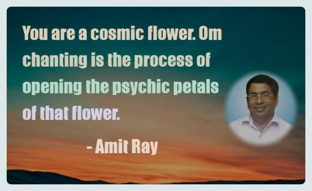 Amit Ray Motivation Quote You are a cosmic flower Om